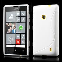 Gélové S-line puzdro na Nokia Lumia 520- biele - 1/6