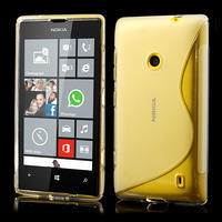 Gélové S-line puzdro na Nokia Lumia 520- transparentný - 1/6