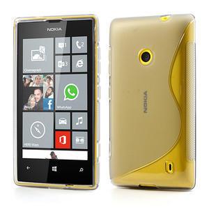 Gélové S-line puzdro na Nokia Lumia 520- sivé - 1