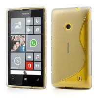 Gélové S-line puzdro na Nokia Lumia 520- sivé - 1/7