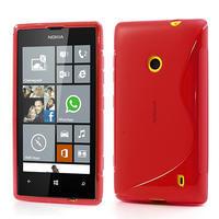 Gélové S-line puzdro na Nokia Lumia 520- červené - 1/6