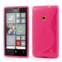 Gélové S-line puzdro na Nokia Lumia 520- růžové - 1/6