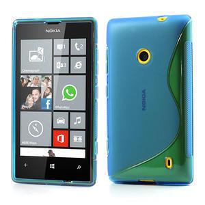 Gélové S-line puzdro na Nokia Lumia 520- modré - 1