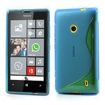 Gélové S-line puzdro na Nokia Lumia 520- modré - 1/6