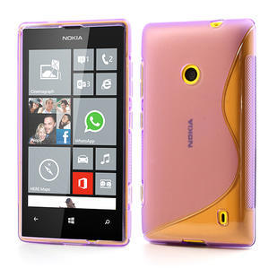 Gélové S-line puzdro na Nokia Lumia 520- fialové - 1
