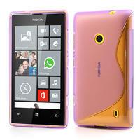 Gélové S-line puzdro na Nokia Lumia 520- fialové - 1/5