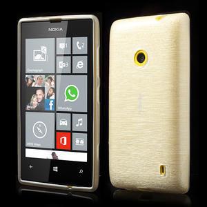 Gélové kartáčové puzdro na Nokia Lumia 520- biele - 1