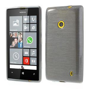 Gélové kartáčové puzdro na Nokia Lumia 520- sivé - 1