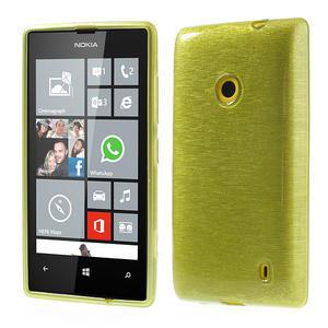 Gélové kartáčové puzdro na Nokia Lumia 520- zelené - 1