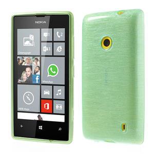 Gélové kartáčové puzdro na Nokia Lumia 520- zelenomodré - 1