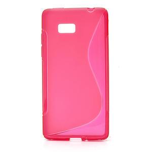 Gélové S-line puzdro pre HTC Desire 600- červené - 1