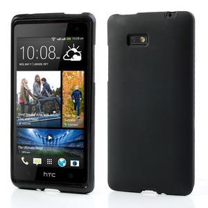 Gélové matné puzdro pre HTC Desire 600- čierné - 1