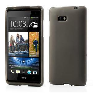 Gélové matné puzdro pre HTC Desire 600- šedé - 1