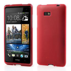 Gélové matné puzdro pre HTC Desire 600- červené - 1
