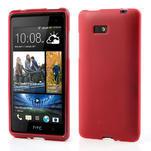 Gélové matné puzdro pre HTC Desire 600- červené - 1/7
