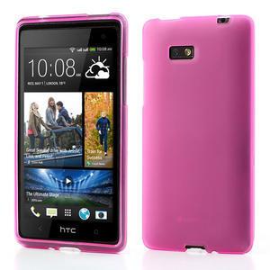 Gélové matné puzdro pre HTC Desire 600- ružové - 1