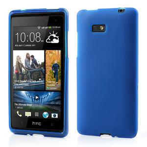 Gélové matné puzdro pre HTC Desire 600- modré - 1