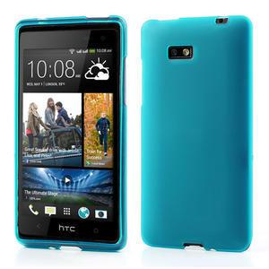 Gélové matné puzdro pre HTC Desire 600- svetlo modré - 1