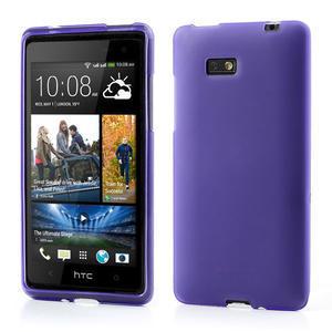 Gélové matné puzdro pre HTC Desire 600- fialové - 1