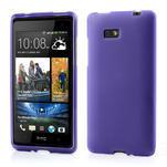 Gélové matné puzdro pre HTC Desire 600- fialové - 1/6