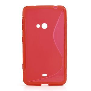Gélové S-line puzdro pre Nokia Lumia 625- červené - 1
