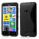 Gélové S-line puzdro pre Nokia Lumia 625- čierné - 1/6