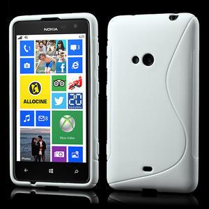 Gélové S-line puzdro pre Nokia Lumia 625- biele - 1
