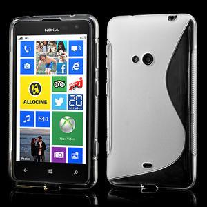 Gélové S-line puzdro pre Nokia Lumia 625- transparentný - 1