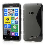 Gélové S-line puzdro pre Nokia Lumia 625- šedé - 1/5