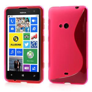Gélové S-line puzdro pre Nokia Lumia 625- ružové - 1