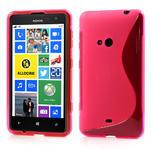 Gélové S-line puzdro pre Nokia Lumia 625- ružové - 1/6
