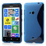 Gélové S-line puzdro pre Nokia Lumia 625- modré - 1/6