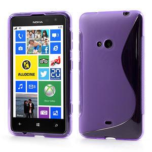 Gélové S-line puzdro pre Nokia Lumia 625- fialové - 1