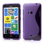 Gélové S-line puzdro pre Nokia Lumia 625- fialové - 1/6