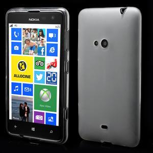 Gélové matné puzdro pre Nokia Lumia 625- biele - 1