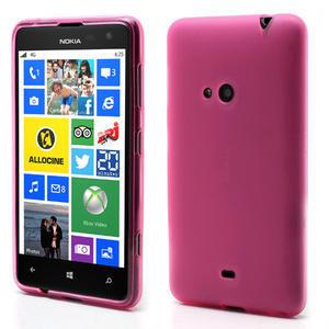 Gélové matné puzdro pre Nokia Lumia 625- ružové - 1