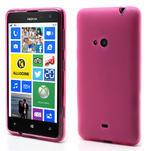 Gélové matné puzdro pre Nokia Lumia 625- ružové - 1/5