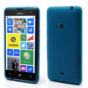 Gélové matné puzdro pre Nokia Lumia 625- svetlo modré - 1