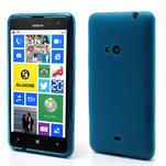 Gélové matné puzdro pre Nokia Lumia 625- svetlo modré - 1/5