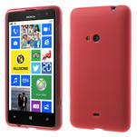 Gélové matné puzdro pre Nokia Lumia 625- červené - 1/5