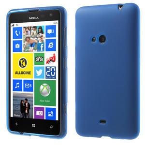 Gélové matné puzdro pre Nokia Lumia 625- modré - 1