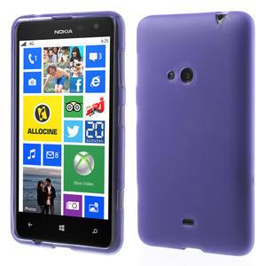 Gélové matné puzdro pre Nokia Lumia 625- fialové - 1