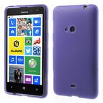 Gélové matné puzdro pre Nokia Lumia 625- fialové - 1/5