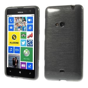 Gélové kartáčové puzdro na Nokia Lumia 625 - šedé - 1