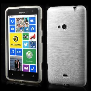 Gélové kartáčové puzdro na Nokia Lumia 625 - biele - 1
