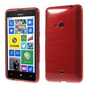 Gélové kartáčové puzdro na Nokia Lumia 625 - červené - 1