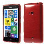 Gélové kartáčové puzdro na Nokia Lumia 625 - červené - 1/5