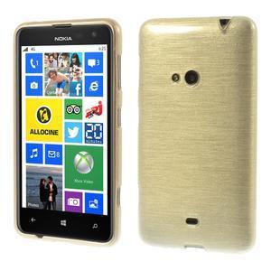 Gélové kartáčové puzdro na Nokia Lumia 625 - zlaté - 1