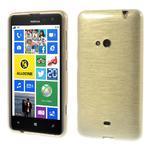 Gélové kartáčové puzdro na Nokia Lumia 625 - zlaté - 1/5
