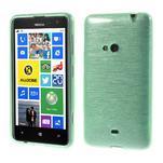 Gélové kartáčové puzdro na Nokia Lumia 625 - cyan - 1/5